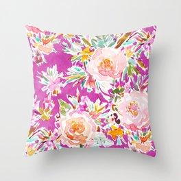 WEIRD STUFF Pink Floral Throw Pillow