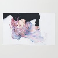 agnes Area & Throw Rugs featuring miss violence by agnes-cecile