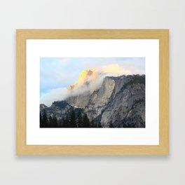 Golden Peak Framed Art Print