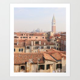 Over the roofs of Venice Art Print