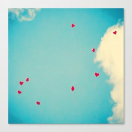 Red Dots Of Love Canvas Print