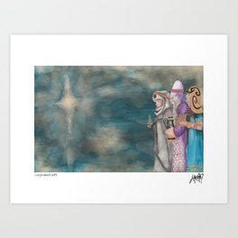 Michael's First Christmas, Three Wise Men Art Print