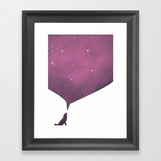 wolf song Framed Art Print