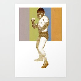 GORILLA PUNCH! Art Print