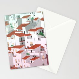 Sunset in my town Stationery Cards