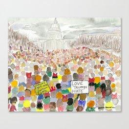Washington DC March 2017 Canvas Print