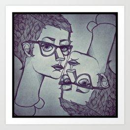 artist on artist Art Print