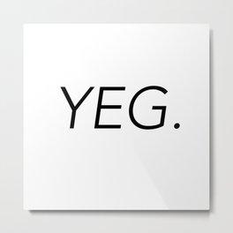 YEG City Code - Edmonton Metal Print