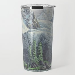 HIDDEN TOWER IN THE INLAND PASSAGE VINTAGE OIL PAINTING Travel Mug
