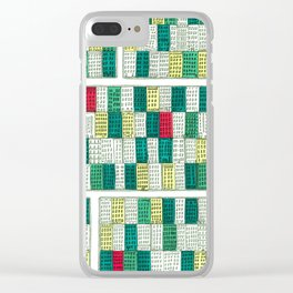 New York Streetscape (lucky green) Clear iPhone Case