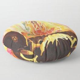 Catching Fire Floor Pillow