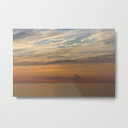 Tranquility sunset over the lake Metal Print