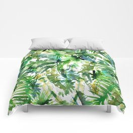 VIBE of the Jungle  {A-green} Comforters