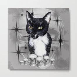 Witches Cat Metal Print