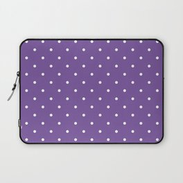 Small White Polka Dots with Purple Background Laptop Sleeve
