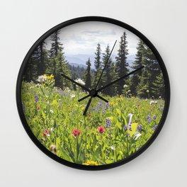 Sub-alpine Meadow Wall Clock