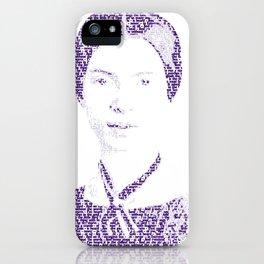 Emily Dickinson - Word Portrait iPhone Case