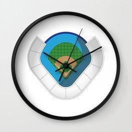 Baseball Stadium Wall Clock