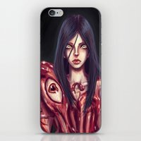 in the flesh iPhone & iPod Skins featuring Flesh Maiden by pandatails