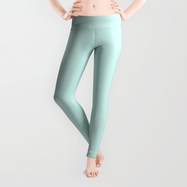 Light Mint Green Solid Color Leggings