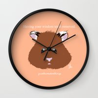 hamster Wall Clocks featuring Hamster by quackso