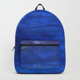 Denim Blue abstract watercolor background Backpack