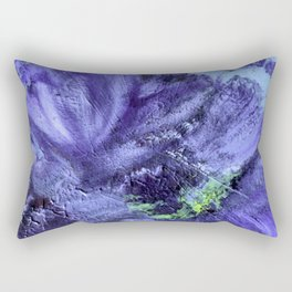 Anemone - for the love of winter colors and the call for spring. Rectangular Pillow
