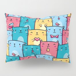 Colorful Cats Pillow Sham