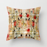 monster Throw Pillows featuring Monster by Tammy Kushnir