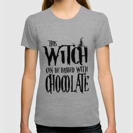 Halloween witch chocolate broom costume gifts T-shirt