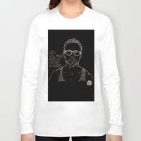 ryan gosling Long Sleeve T-shirts featuring Hey Girl, The Gosling by Dear Colleen