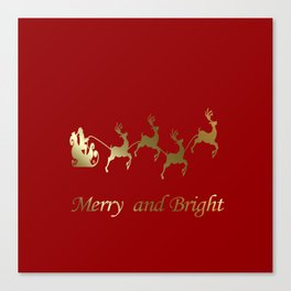 Merry and Bright Night Canvas Print