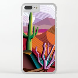 Black Canyon Desert Clear iPhone Case