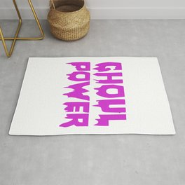 Ghoul Power Funny Halloween Horror Scary Rug
