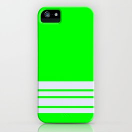 Lime Stripes Lavender Wall iPhone Case