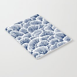 Mushroom Pattern - Dark Blue Notebook