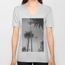 Palm Trees (Black and White) Unisex V-Neck
