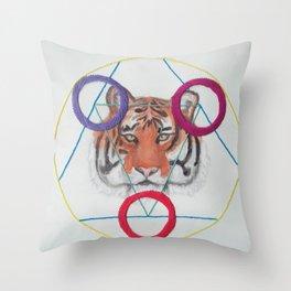 Sacred Tiger Throw Pillow