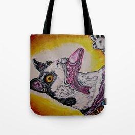 Coney Island Carnival Carousel Cat  Tote Bag