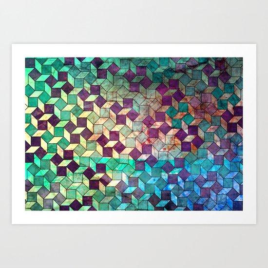 diamonds and dots...not Art Print