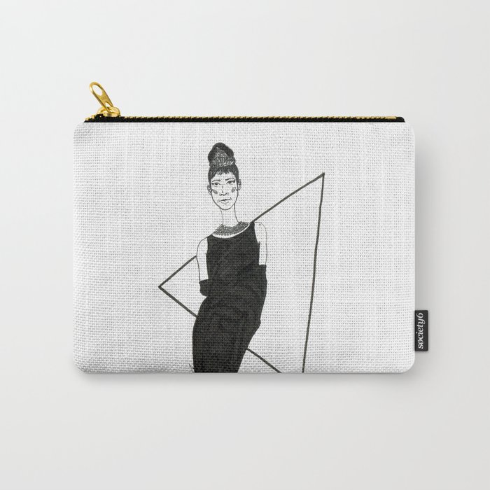 Girl in a black dress Carry-All Pouch