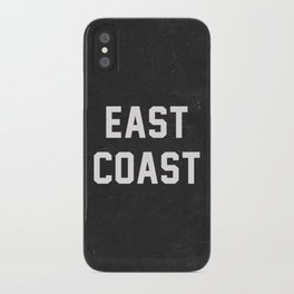 East Coast - black iPhone Case