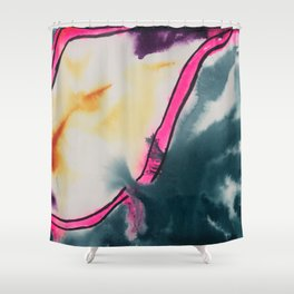 Mouthy Hot Pink Lips Abstract Shower Curtain