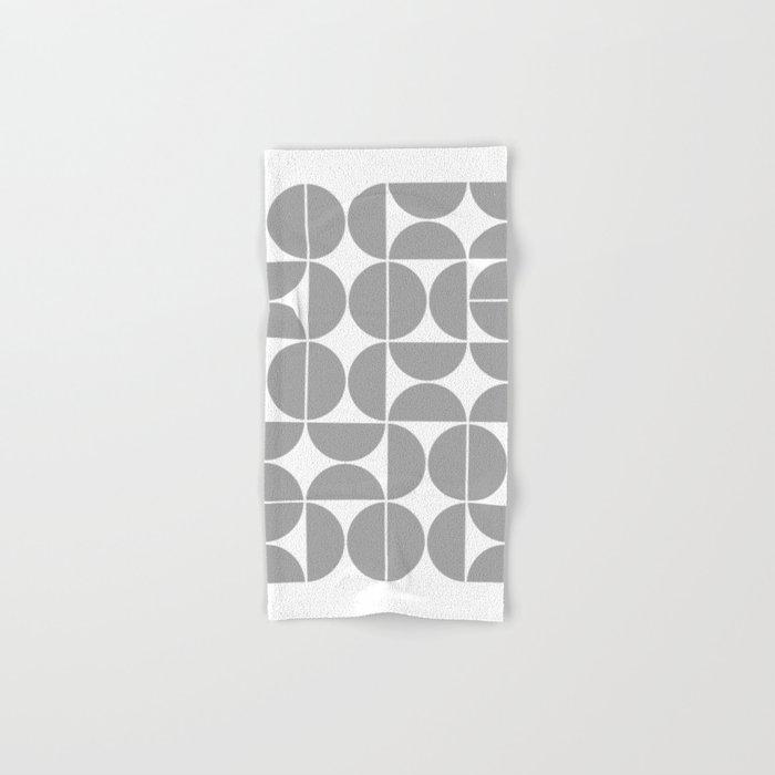 Mid Century Modern Geometric 04 Grey Hand & Bath Towel