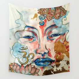 Buddah, lotus and OM Wall Tapestry