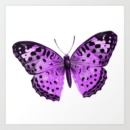 Luxurious Lilac-Pink Butterfly Art Print