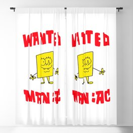 Wanted Maniac Blackout Curtain