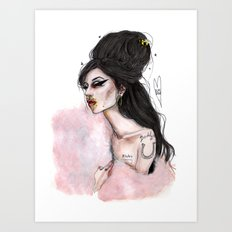 You sen't me flying amy W Art Print