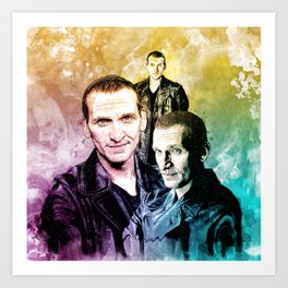 Inspired by Christopher Eccleston the ninth doctor Who in water color Art Print