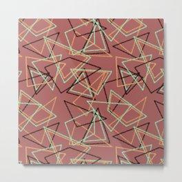 Colorful brown terracotta geometric pattern . Metal Print